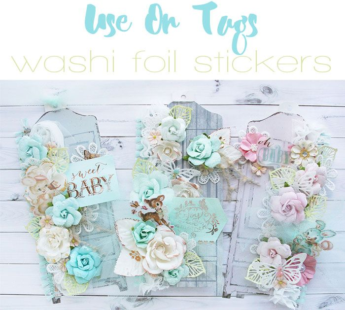 Heaven Sent baby tags + foil washi stickers? They're a match made in heaven! #heavensent #tags #papercrafts