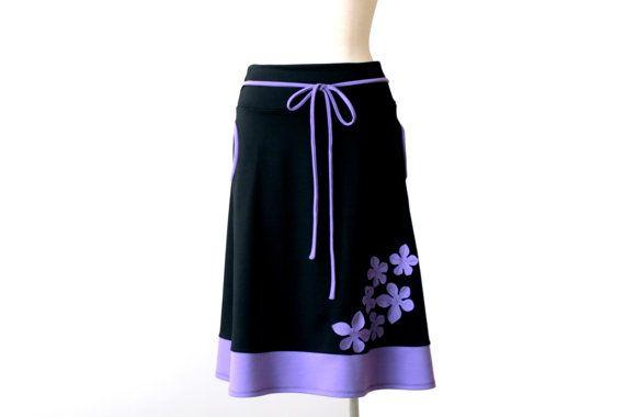 Womens clothing. Winter skirt. Womens clothing winter plus size skirt. Winter skirt with pockets. Applique skirt. Fall skirt.
