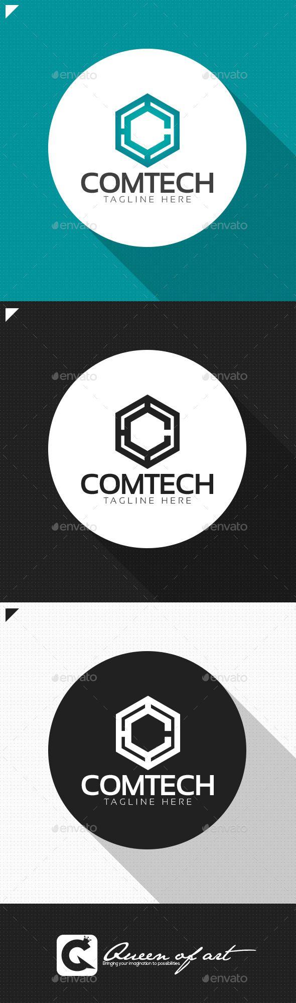 Comtech Logo Logo design template, Logos, Logo design trends
