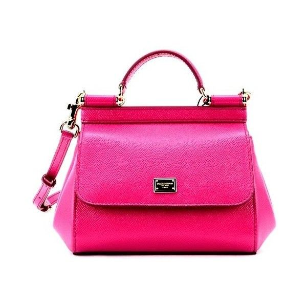 Fuxia Sicily Mini Bag (€730) ❤ liked on Polyvore featuring bags, handbags, shoulder bags, rosa shocking, womenbags, leather purses, genuine leather shoulder bag, pink purse, genuine leather purse and pink leather handbags