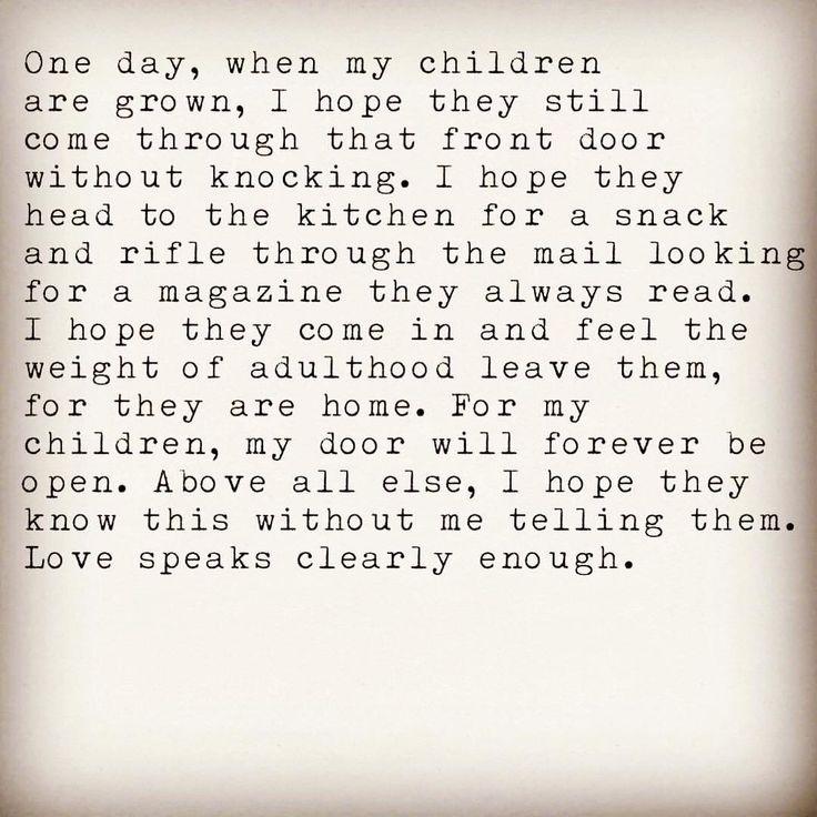 One day when my children are grown....