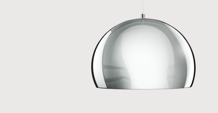 Boule Pendant, Chrome & Gloss White