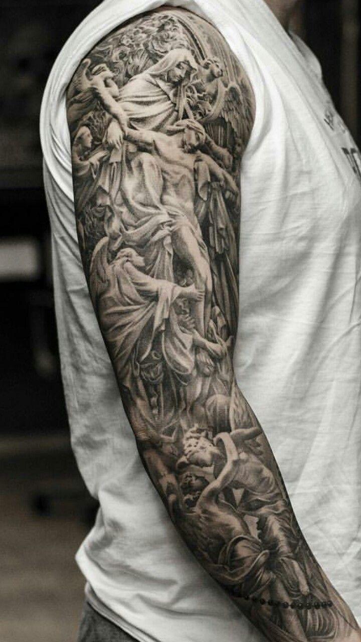 best 25 religious tattoo sleeves ideas on pinterest. Black Bedroom Furniture Sets. Home Design Ideas