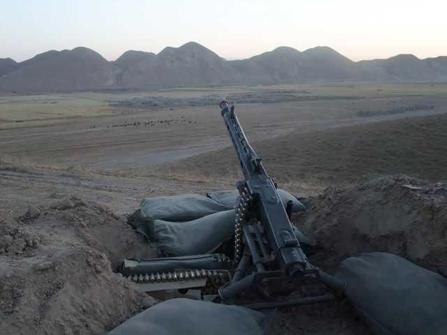Norwegian army MG3 position in Afghanistan/ 2009/ more in comments