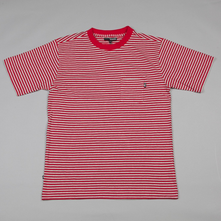 THE QUIET LIFE STRIPED T SHIRT RED � Striped T Shirts