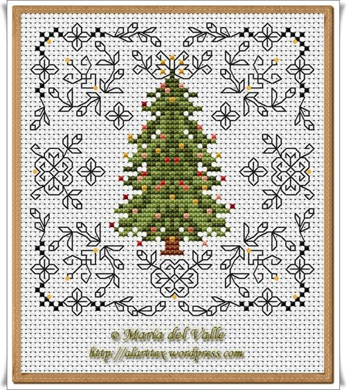 There are a lot of different patterns as you scroll through the blog alarttex.wordpress.com, Christmas Tree and Blackwork