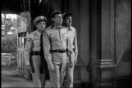 """Andy, Barney and Gomer at the """"haunted house"""""""