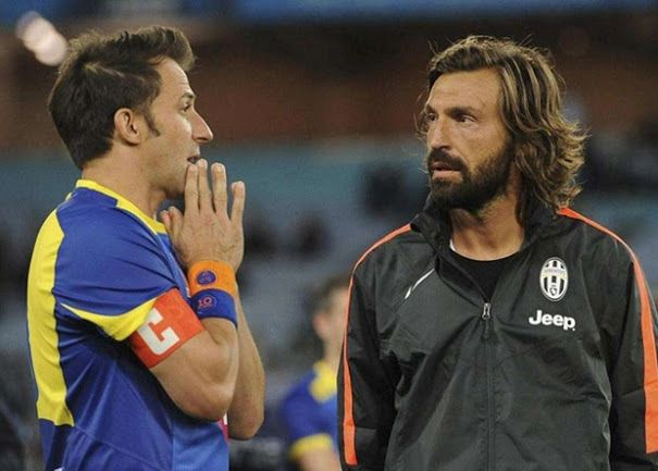 The class in this picture! Alex Del Piero and Andrea Pirlo
