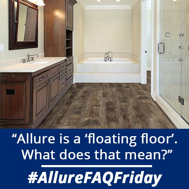 Allure vinyl planks and tiles connect to each other and for Preparing floor for vinyl
