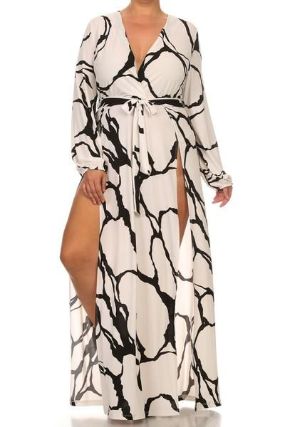 Plus Size Glamourous Strokes Dress (plus size) #plussizefashion #dress