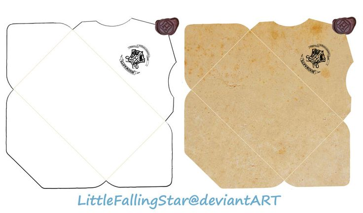 Hogwarts Envelope by LittleFallingStar.deviantart.com on @DeviantArt