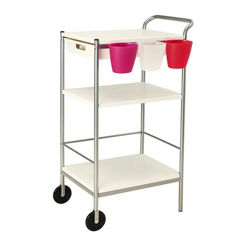 """BYGEL Utility cart IKEA ($29.99).  Great """"teaching station"""" for the classroom!  Easy to assemble."""