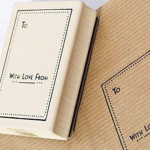 Rubber Stamp - 'With Love From' - cards & wrap