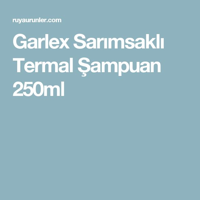 Garlex Sarımsaklı Termal Şampuan 250ml