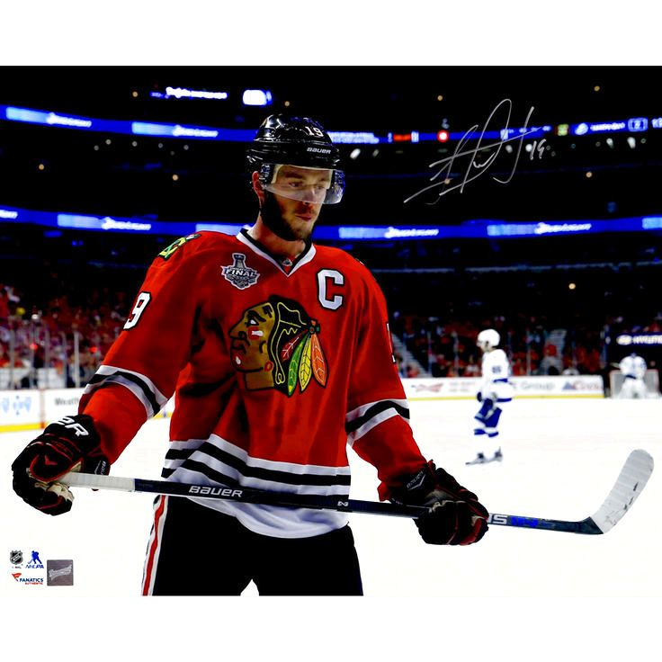 """Jonathan Toews Chicago Blackhawks Fanatics Authentic 2015 Stanley Cup Champions Autographed 16"""" x 20"""" Stanley Cup Finals Red Jersey Close-Up Photograph - $175.99"""