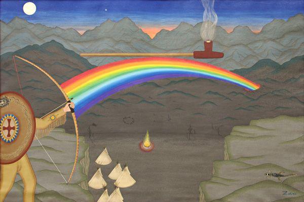 "Arrow Of Truth - painting by Peter ""Zotec"" Newman - www.artzotec.com"