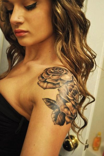 pretty on shoulder rose tattoos egodesigns.comjpg