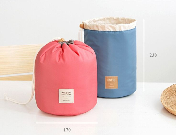 Em forma de barril de viagem cosméticos saco de Nylon Wash sacos de maquiagem organizador saco de viagem de armazenamento de alta capacidade cordão elegante tambor em Bolsas para Remédios & Capas de Mochilas & bagagem no AliExpress.com | Alibaba Group