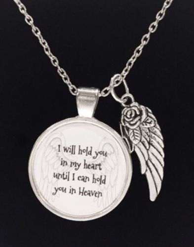 I Will Hold You In My Heart Until I Hold You In Heaven Guardian Angel Necklace
