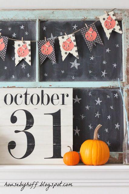 A Completely DIY Halloween Mantel!