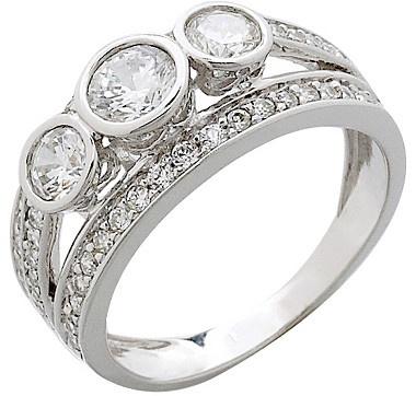 #ilovetoshop Diamonelle 14K Gold Bezel Set Ring