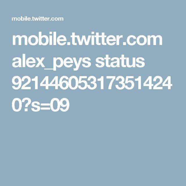 mobile.twitter.com alex_peys status 921446053173514240?s=09