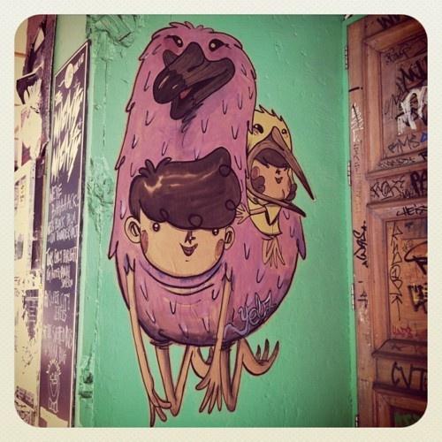 Street Art. Cuba Street. Wellington.