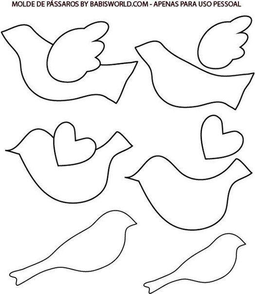 выкройки птичек