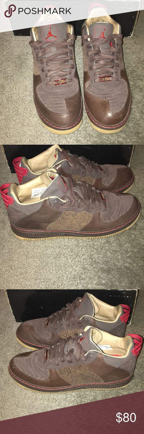 Nike AJF 20 Low LS AJF 20 Low LS. These are a fusion of Nike Air Force Ones and Jordan 20's. They have been worn as shown in the pictures and are still in good condition with lots of life left to them. They are coming from a smoke free environment and are 100% authentic. Jordan Shoes Sneakers