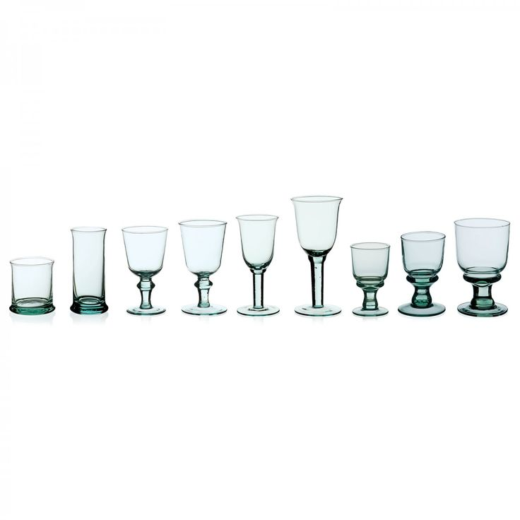 Simón recycled glassware from Spain. #recycled #glass #glassware #tableware #davidmellor