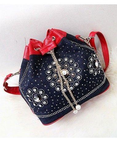 Tas Import BT4695-RED TasKorea Terbaru Termurah Merek Berkualitas OEM MODEL : BAG Original Product China. == Description :  Material : PU Leather + Canvas Length:    26cm Height:    16cm Depth:      26cm Long Strap:   Yes 0.7 kg   ..