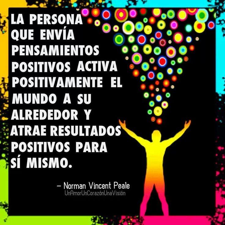 Pensamientos positivos frases pinterest - Energias positivas en las personas ...