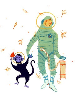 Autumn, Ape, Astronaut, Loris Lora