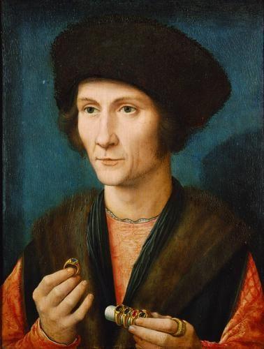 ab. 1505-1510 Gerard David - Portrait of a goldsmith -