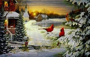 Image result for Beautiful Christmas Desktop Wallpapers Scenes Birds