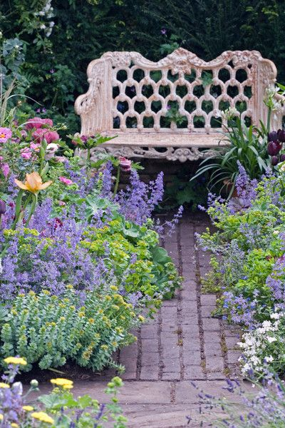 17 Best Images About Flower Gardens With Benches On