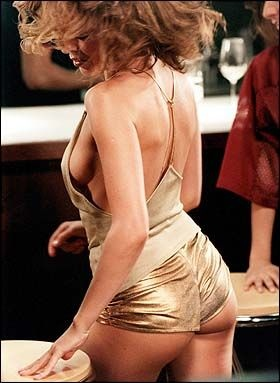 Kylie Minogue and her famous Gold Hot Pants #hot