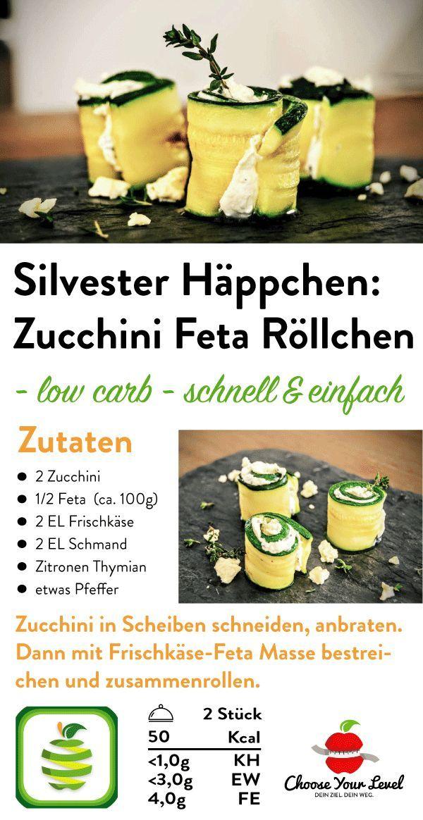 Zucchini Feta Röllchen | Rezept in 2019 | Schnelle Küche: einfache ...