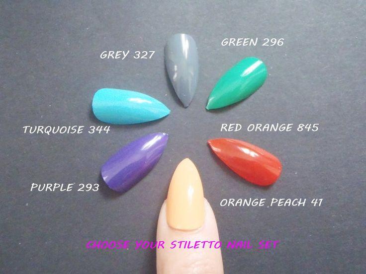 shiny colours stiletto false nails u as glue on almond purple gray - http://shoebrand.net/bright-colors-stiletto-false-nails-u-as-glue-on-almond-purple-grey/