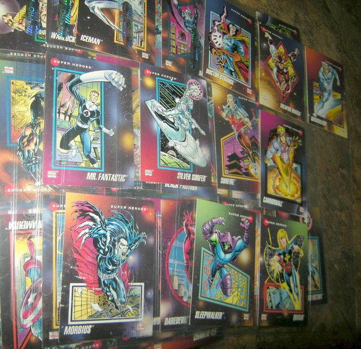 Marvel Impel 1992 Trading Cards (160 of 200), xlnt cond in plastic sleeves