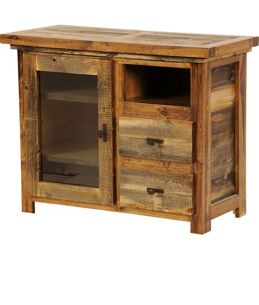 Cometes Sacramento small rustic entertainment centers