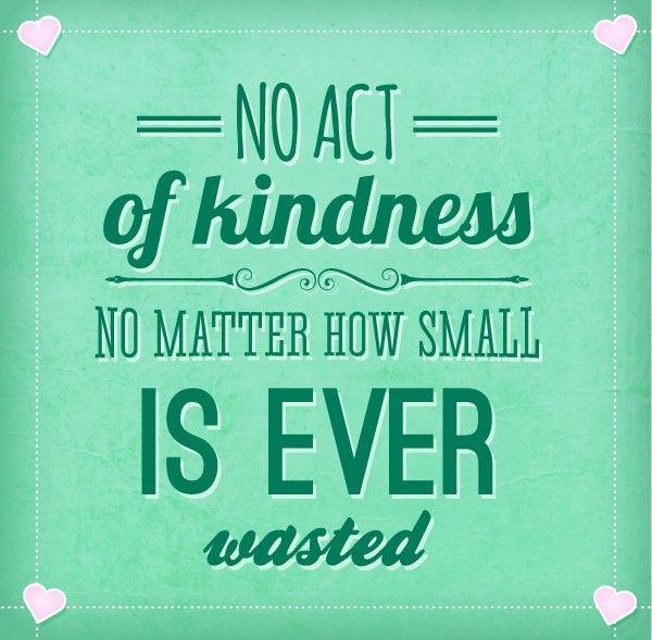 Kindness always pays