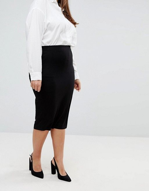 311559cd38db DESIGN Curve jersey pencil skirt | The Perfect Closet | Skirts, Asos ...