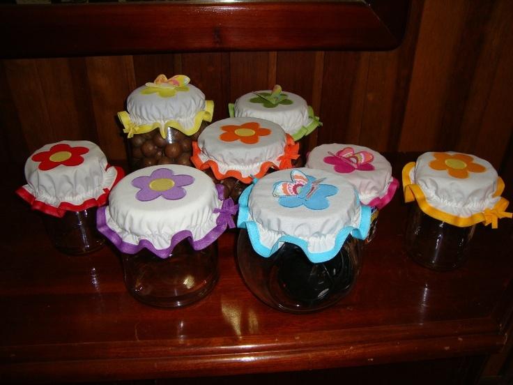 Toucas para potes de doces   www.elo7.com.br
