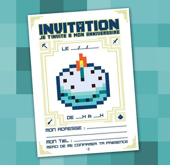 carte invitation anniversaire a