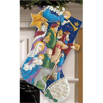 "Bucilla felt stocking kit: ""The Procession"""