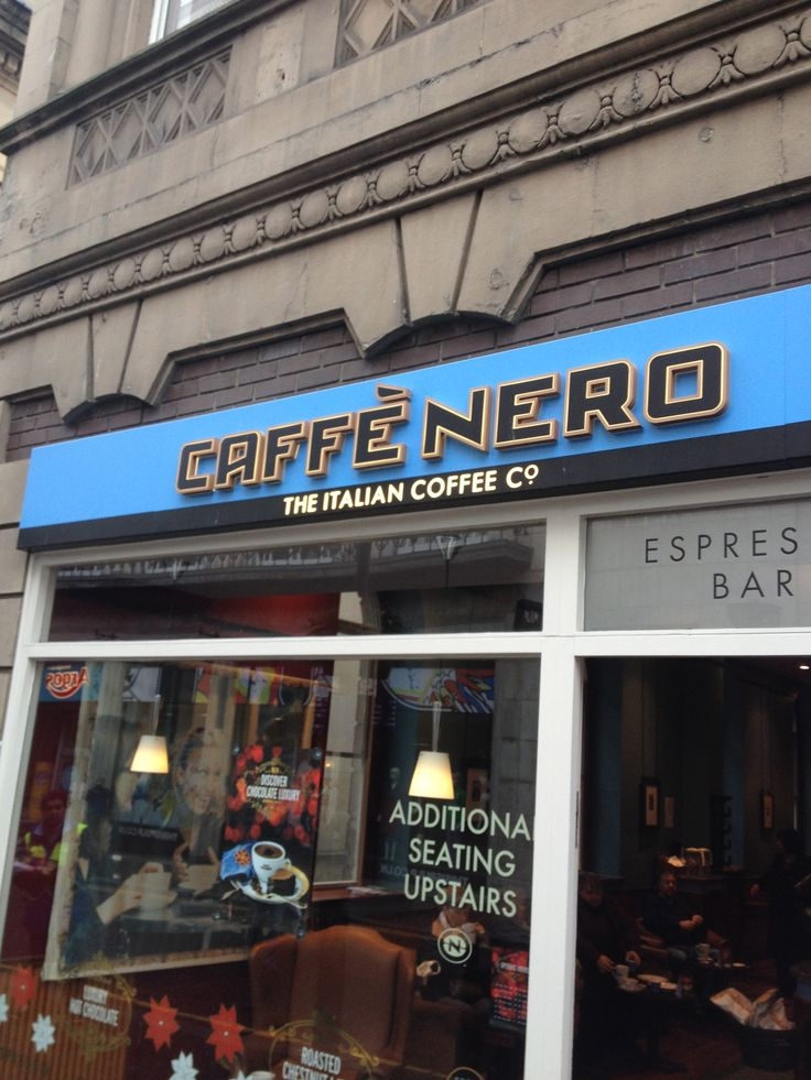 cafe nero id say we like this place breakfast twice and filled a loyalty card in our fav say awesome espresso and milano hot chocolate  29 best coffee logo images on pinterest   cafe logo coffee logo      rh   pinterest