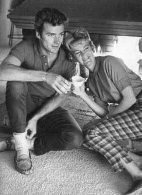 Clint Eastwood's first wife was Maggie Johnson ~ they married on December 19, 1953, six months after they met on a blind date ... 25 years later, they separated and then eventually divorced in 1984.