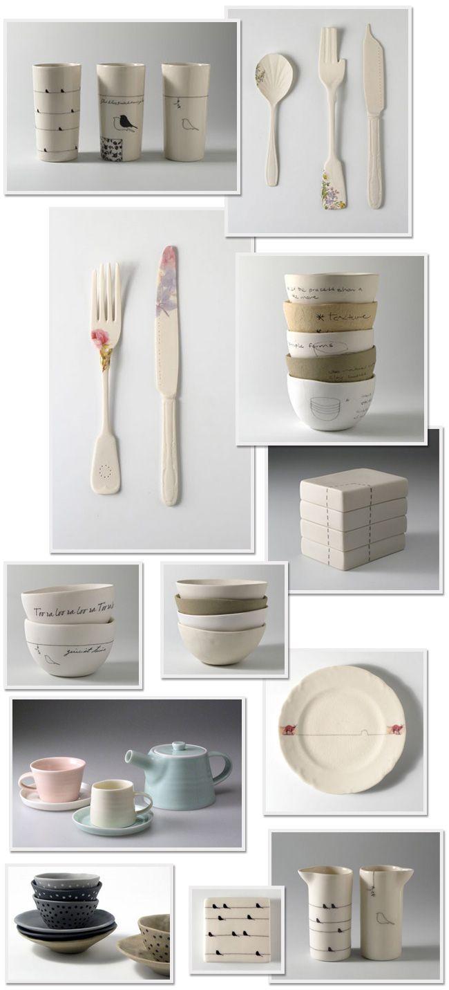 Ceramics by the ceramic artist Mel Robson, based in Alice Springs, Australia. His link is http://feffakookan.blogspot.com/