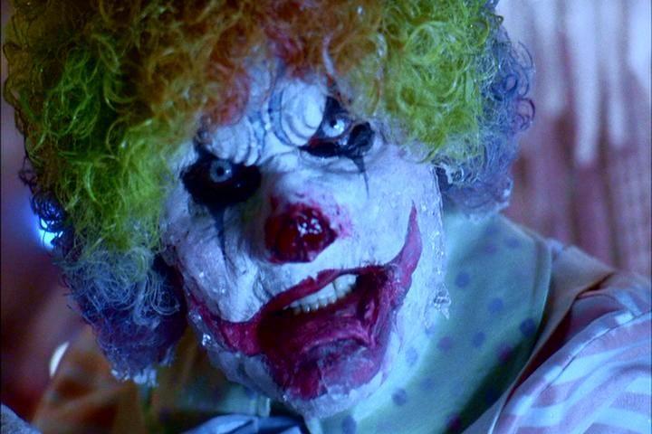 """I scream...you scream...we all scream for ice cream...""  Very bizarre movie, but if you're afraid of clowns, perfect!"